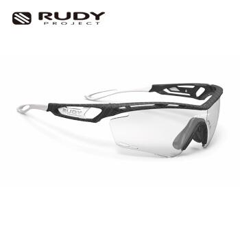 RUDY PROJECTスポツーメガネ男性サングラスの変色偏光レンズをかけて走る登山イタリアの輸入TRALYX木炭黒+黒い光沢の変色平均サイズ