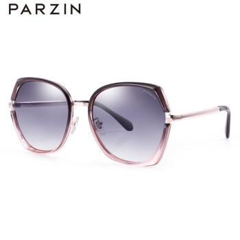 パーソン(PARZIN)2019新品女性偏光サングラスTR 90レトロメタルフレーム潮サングラス91605透粉フレーム漸灰片