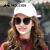 Molsion見知らぬ森2018年新型サングラスの女性アンジェラabyとシリーズの丸顔サングラスの女性の偏光の方の顔のメガネMS 6035 BabyモデルC 10メガネの金色の縁のレンズの紫灰色