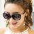 サングラスの女性の丸顔2019紫外線カットサングラスのおしゃれで上品で個性的な女性用メガネです。