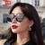 ヘレンカイラー19新型女性レトロな猫眼サングラスファッションのサングラス女性運転手鏡H 8808 N 30黒灰色の曜石黒枠
