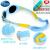 ディズニーDispney子供のサングラス0-2歳の幼児のサングラス男性の日焼け防止紫外線カットUV 400偏光レンズ9660青いC 5-2歳は適用できます。