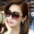 ジヨン2018新型サングラス女性丸顔スターモデル潮サングラス女性の顔は優雅で簡単な紫外線カット黒です。