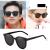 GARRAS 2019新型gmサングラス女性紫外線カットサングラス女性潮韓国版ネット紅街拍insメガネ黒枠黒灰片(Lサイズ)フリーサイズ