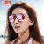 ヘレン・ケラーサングラスレイディ・カラーフィルムティップは、ファッショナブルでカラフルな偏光ミラーゴールドフレーム菖蒲色コーティングレンズH 8630 HD 16