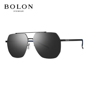 BOLON暴龍2020新型サングラスパイロット枠サングラスメタルラッシュ不規則メガネ男性BL 8075 D 11-ダークカラー