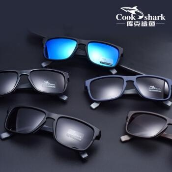 クールのサメメメの男性のサロングースの偏光メガネの潮人の运転手の车の运転手のメガネの目の2019新型のサングラスの青い色