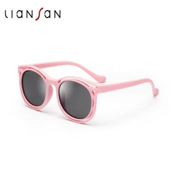 子供のサングラスに恋しています。男女のサングラス。子供のシリコン素材の偏光メガネL 8209ピンクです。