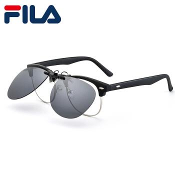 FILAサングラスクリープ偏光サングラスクリープ男性用近視運転用メガネメタルクリープブラックグレー