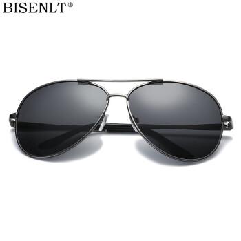 BISENLTサングラスレンズレンズレンズレンズ偏光運転鏡ファッション男性サングラス潮流経典ガマメガネA 10偏光-銃フレーム灰片